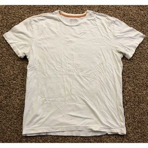 Old Navy White Fitted Tee